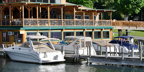 Boat Docking available from spring to fall. Come by car or boat!